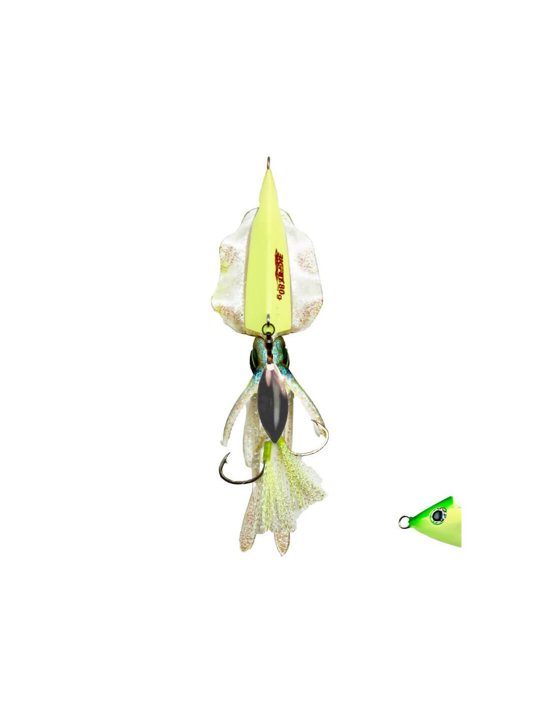 Señuelo Prohunter Big Fins Completo Cuerpo + Plomo 80g